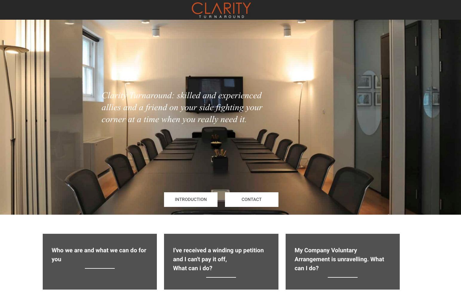 Clarity Turnaround Web Development